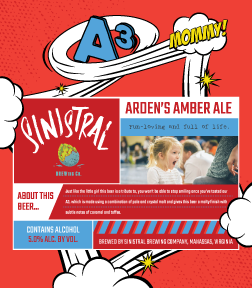 ARDEN'S AMBER ALE 5.0% ABV